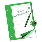 Saint Patrick notebook — Stock Vector