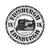 Edinburgh grunge rubber stamp — Stock Vector