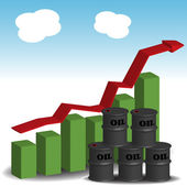Growing oil price — Stock Vector