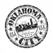 Oklahoma City grunge rubber stamp — Stock Vector