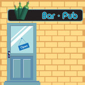 Bar pub door — Stock Vector