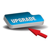 Upgrade button — Stock Vector