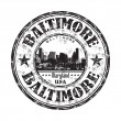 Baltimore grunge rubber stamp — Stock Vector