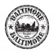 Baltimore grunge rubber stamp - Stock Vector