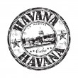 Havana grunge rubber stamp — Stockvectorbeeld