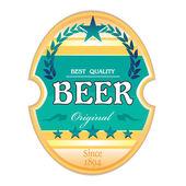 Rótulo de cerveja — Vetor de Stock