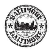 Baltimore grunge rubber stamp — Stock Vector