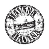 Havana grunge rubber stamp — Vector de stock