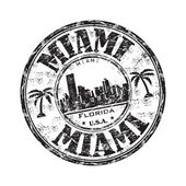 Miami Florida grunge rubber stamp — Stock Vector