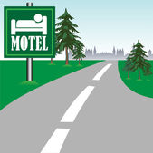 Motel sign — Stock Vector