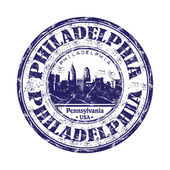 Philadelphia grunge rubber stamp — Stock Vector