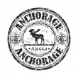 Anchorage Alaska Grunge-Stempel — Stockvektor