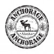 sello de goma de Anchorage alaska grunge — Vector de stock