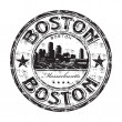 Boston grunge rubber stamp — Stock Vector