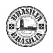Brasilia grunge rubber stamp - Stock Vector