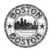 Boston grunge rubber stamp — Stock Vector