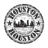 Houston grunge rubber stamp — Stock Vector