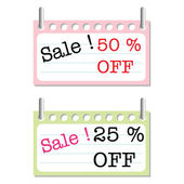 Sale signs — Stock Vector