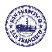 San Francisco grunge rubber stamp — Stock Vector