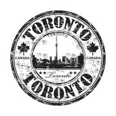 Toronto grunge rubber stamp — Stock Vector