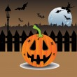 Celebrating Halloween — Imagen vectorial