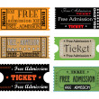 Stock Vector: Free admission tickets