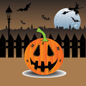 Celebrating Halloween — Stock Vector