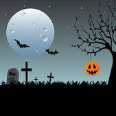 Halloween greeting — Vector de stock