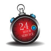 Twenty four hour service — Stock Vector