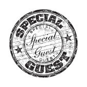 Special guest rubber stamp — Stock Vector