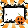Halloween frame — Vector de stock #24925605