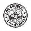 Stock Vector: Los Angeles grunge rubber stamp