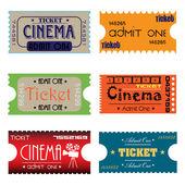 Cinema tickets — Stock Vector