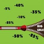 Big sale zipper — Stock Vector #24962791
