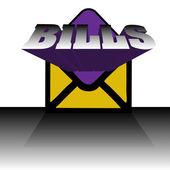 Envelope with bills — Stockvektor