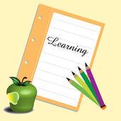 Di apprendimento — Vettoriale Stock