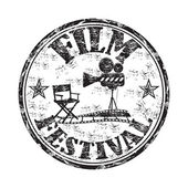 Film festival grunge rubber stamp — Stock Vector