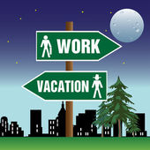 Work and vacation — Stock Vector