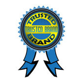 Trusted brand badge — Stock Vector
