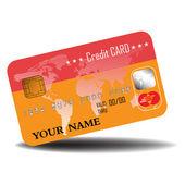 Orange credit card — Stock Vector