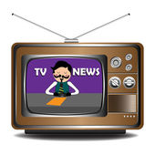 TV news — Stock Vector
