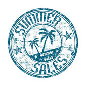 Summer sales — Stock Vector