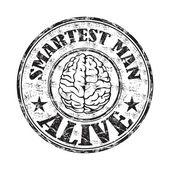 Smartest man alive rubber stamp — Stock Vector