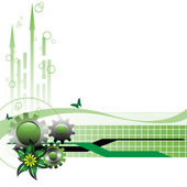 Green technology background — Stock Vector