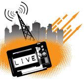 Televisione in diretta — Vettoriale Stock