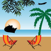 Vacation — Stock Vector