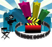 Cinema background — Stock Vector
