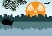 Radioactive sun — Stock Vector
