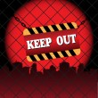 Keep out plate — Stock Vector