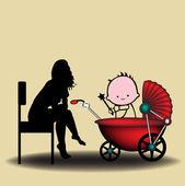 Babysitter — Stock Vector